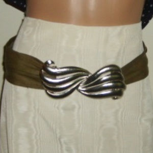 "Belt Calvin Klein 27""-32"" Army Green Leather"
